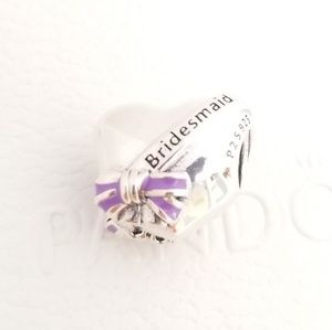2 PANDORA Charm Best Bridesmaids Sterling Silver